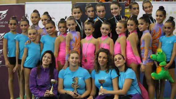 Doble cita para las gimnastas del Club Rítmico Colombino y su cantera para despedir el año 2013