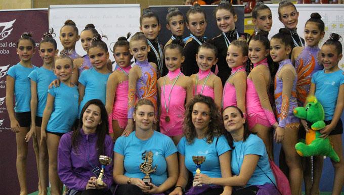 Representantes del Club Rítmico Colombino, que cierra el año con un doble evento en Huelva y en Lepe.