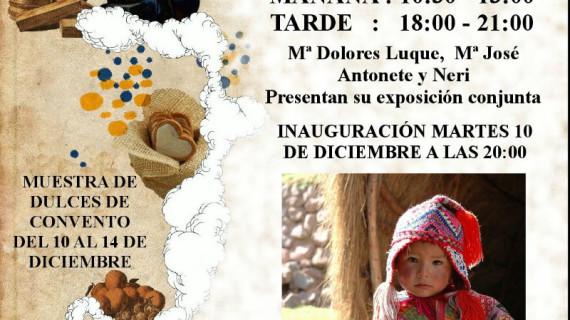 Los dulces de convento y la pintura solidaria se unen por Navidad