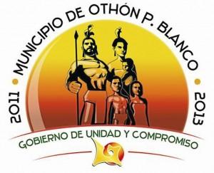 Logo Oficial del Mestizaje, donde aparece la figura de Gonzalo Guerrero.