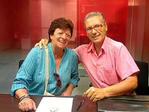 Maribel Monsalvete y Paco de Dios, secretaria y presidente de Discco.