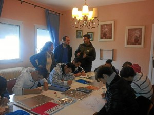Uno de los talleres de oficios puesto en marcha en Ayamonte.