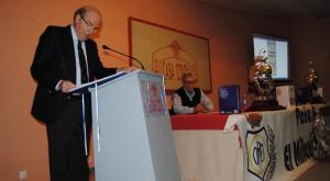 El alcalde de Huelva, Pedro Rodríguez, durante su intervención en el acto.
