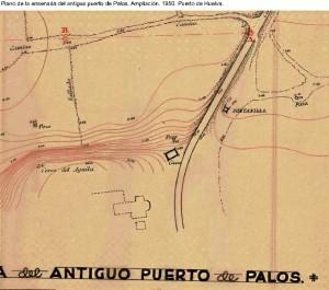 Plano del Puerto de Palos. / Foto: Carlos Barranco.