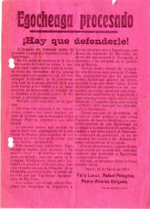 Los panfletos se refieren al movimiento obrero onubense a comienzos del siglo XX.