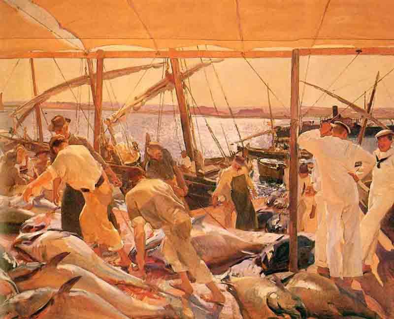 'La Pesca' o 'Ayamonte y la pesca del atún', un clásico inconfundible de Joaquín Sorolla