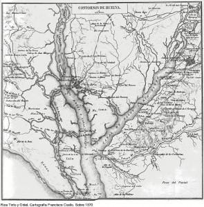 Mapa de los ríos Tinto y Odiel del año 1870. / Foto: Carlos Barranco.