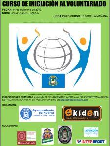 Cartel anunciador del Curso que imparte el Ayuntamiento de Huelva.