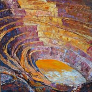 A esta pintora le encanta captar los matices de la Corta Atalaya.