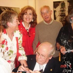 Prieto en una exposición homenaje a Federico Delgado Montiel.