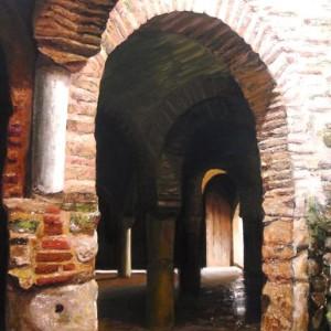 La mezquita de Almonaster bajo el pincel de Ángeles.