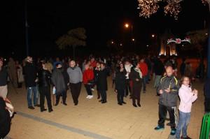Numerosos ayamontinos se dieron cita en el acto navideño.