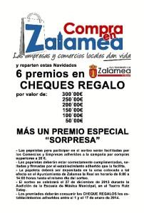 Cartel del sorteo de Zalamea.