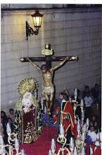 Cristo de la Misericordia, María Stma. de la Esperanza y San Juan Evangelista.
