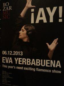 Cartel de Eva Yerbabuena para su actuación en Bruselas.