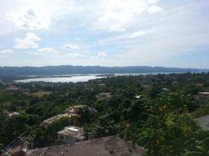 Vistas de la Bahía de Montego desde la casa de Javier.