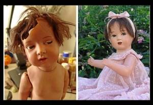 Muñeca restaurada por Teresa.