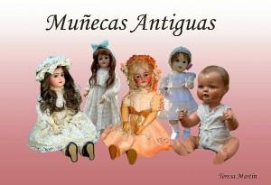 Postal de su colección de muñecas antiguas.