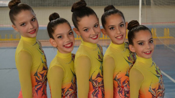 El Club Rítmico Colombino, con la ilusión como estandarte en su participación en el Campeonato de España