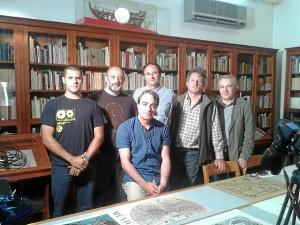 Con el equipo de rodaje del documental, en Moguer.