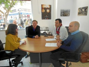 La firma del convenio se realizó en la sede de Huelva Buenas Noticias.
