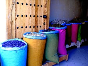 Tienda de especias en Marrakech.