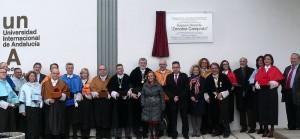 Foto de familia del equipo de gobierno de la UNIA.