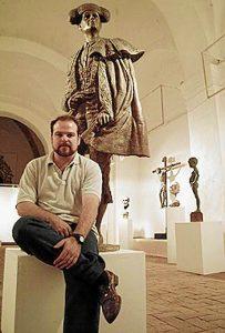 El escultor Alberto Germán Franco.
