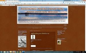 Portada del blog sobre patrimonio minero.