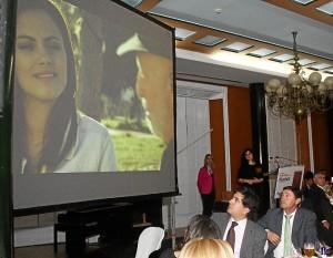 Durante la gala se proyectó un audiovisual sobre la evolución de HBN.
