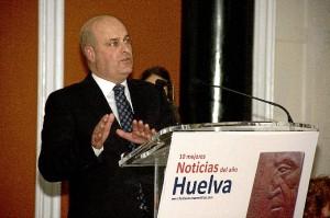 El director de Huelva Buenas Noticias, Ramón Fernández Beviá, durante su intervención.