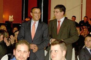 Ignacio Caraballo y el vicepresidente de la Junta, Diego Valderas.