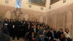 El acto se ha celebrado por primera vez en la Iglesia del Monasterio.