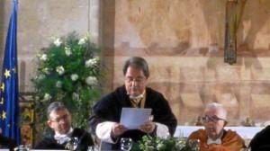 El rector de la UNIA, durante su intervención.
