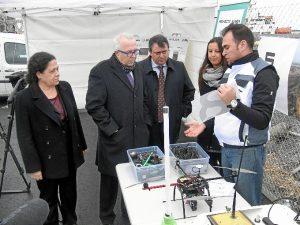 Visita a las obras de ampliación sur del muelle Ingeniero Juan Gonzalo donde se pondrá en marcha el proyecto de Onubaport Logistic.