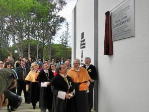 Momento de la inauguración del espacio dedicado a Zenobia.