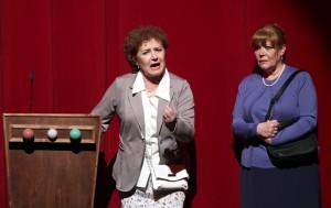 Junto a Beatriz Carvajal en la obra de teatro 'Las chicas del calendario'. / Foto Jaime Villanueva
