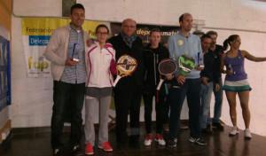 Los vencedores en el Campeonato Provincial de Pádel.
