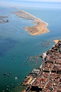 Vista aérea de la localidad de Punta Umbría.