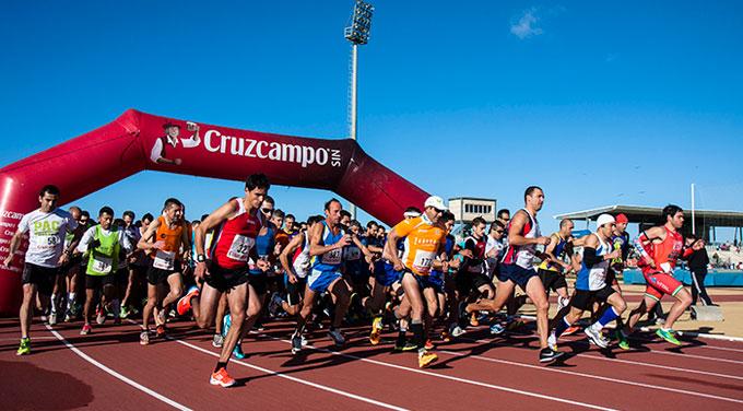 Momento de la salida de la prueba disputada en Ayamonte. / Foto: J. Losa.