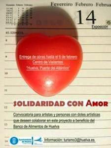 Cartel de 'Solidaridad con amor'.