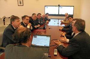 Reunión en El Arenosillo.