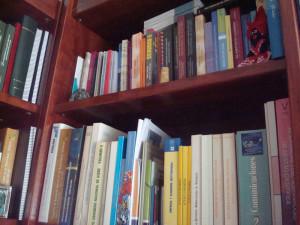 Muchos de sus libros son de economía.