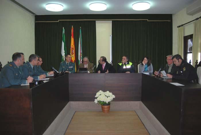 Reunión de la Junta Local de Seguridad en Hinojos.