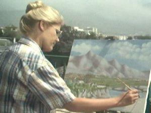 La madrileña encarnaba a la pintora Julia en 'Verano azul'.