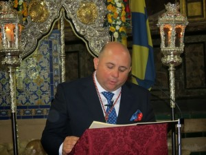 Antonio 'Caballero' ofreció el pregón de la Hdad. del Rocío el pasado año.