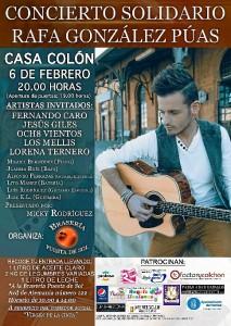 Cartel del concierto solidario del próximo 6 de febrero.