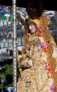 La Virgen del Rocío, captada por el objetivo del fotógrafo.