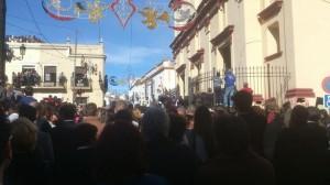 Una de las primeras tiradas en Trigueros, este domingo.