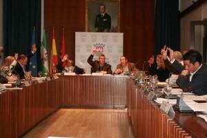 Sesión plenaria en el Ayuntamiento de Cartaya.